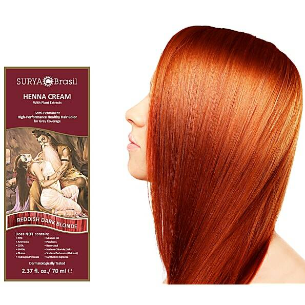 Surya Brasil Vegan Haarverf Cream Reddish Dark Blond