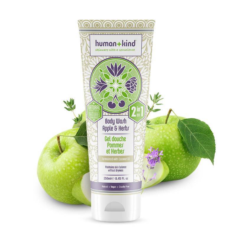 Human+Kind | All-in-One Shampoo en Body Wash Apple & Herbs