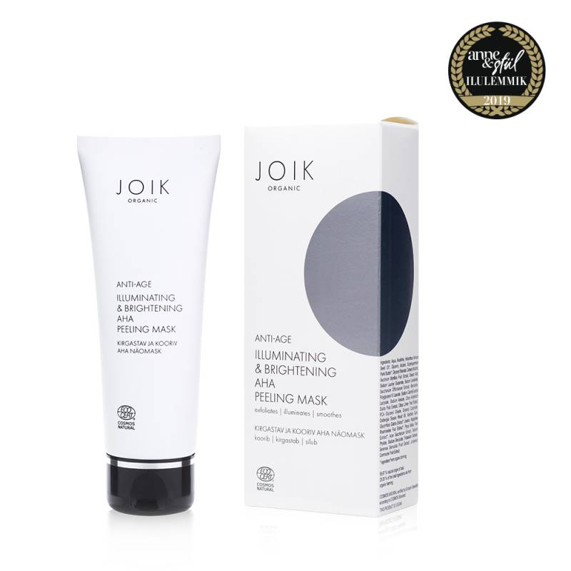 JOIK Organic Vegan Illuminating & Brightening AHA Peeling Mask 75ml