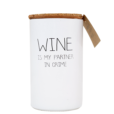 My Flame: Wine is my partner in crime - Fresh Cotton