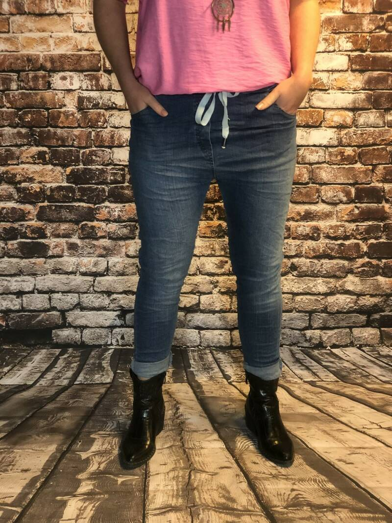 Comfy joggy jeans donker