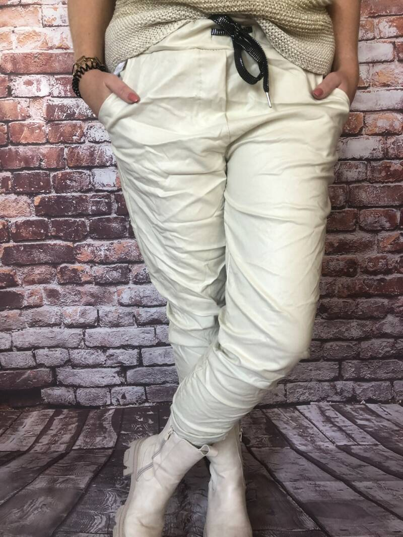 Leather look off white
