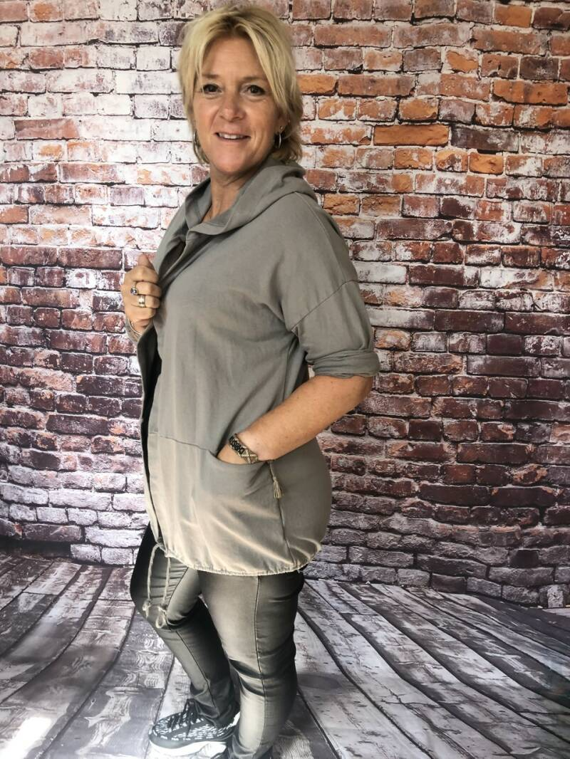 Sweat Vest  Peggy Taupe