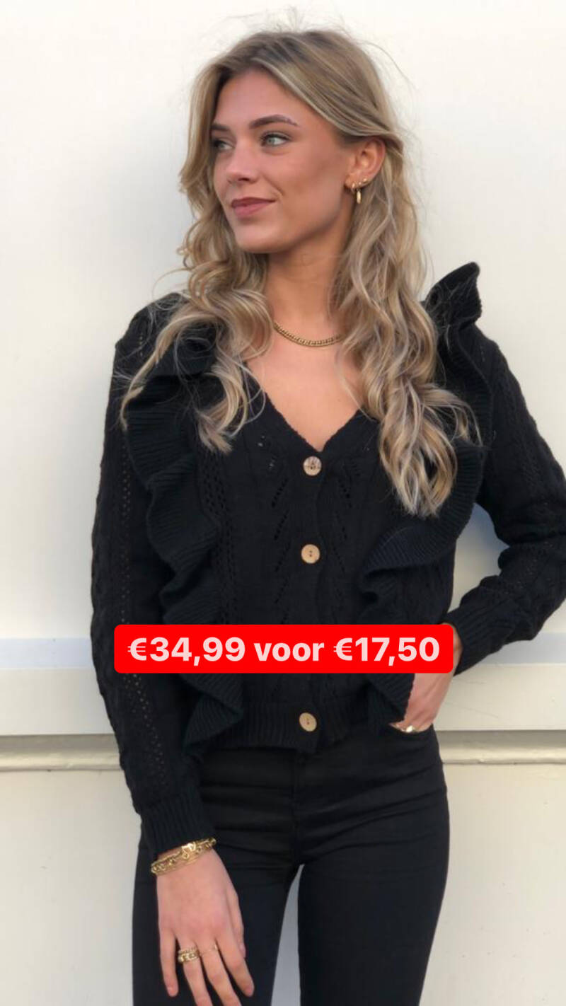 RUFFLE CABLE CARDIGAN 2049