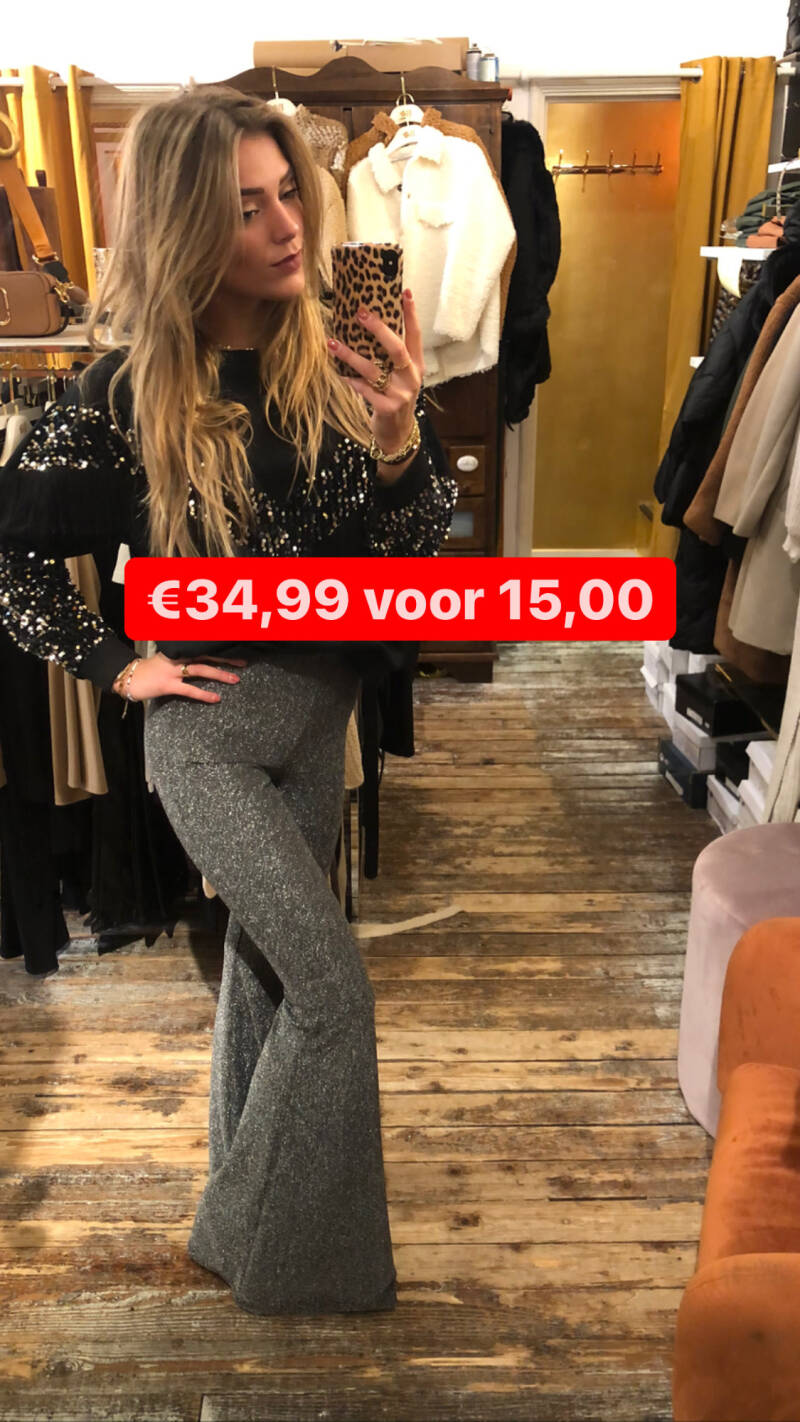 JUMELLE PARTY GLITTER FLARED PANTS 2069