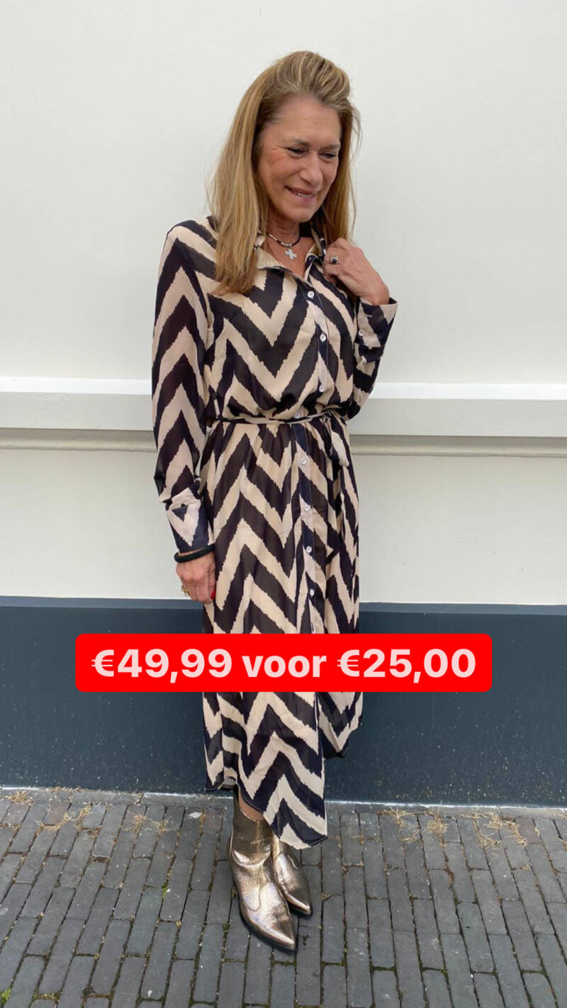 JUST DAI DRESS MAXI ZIG ZAG 236