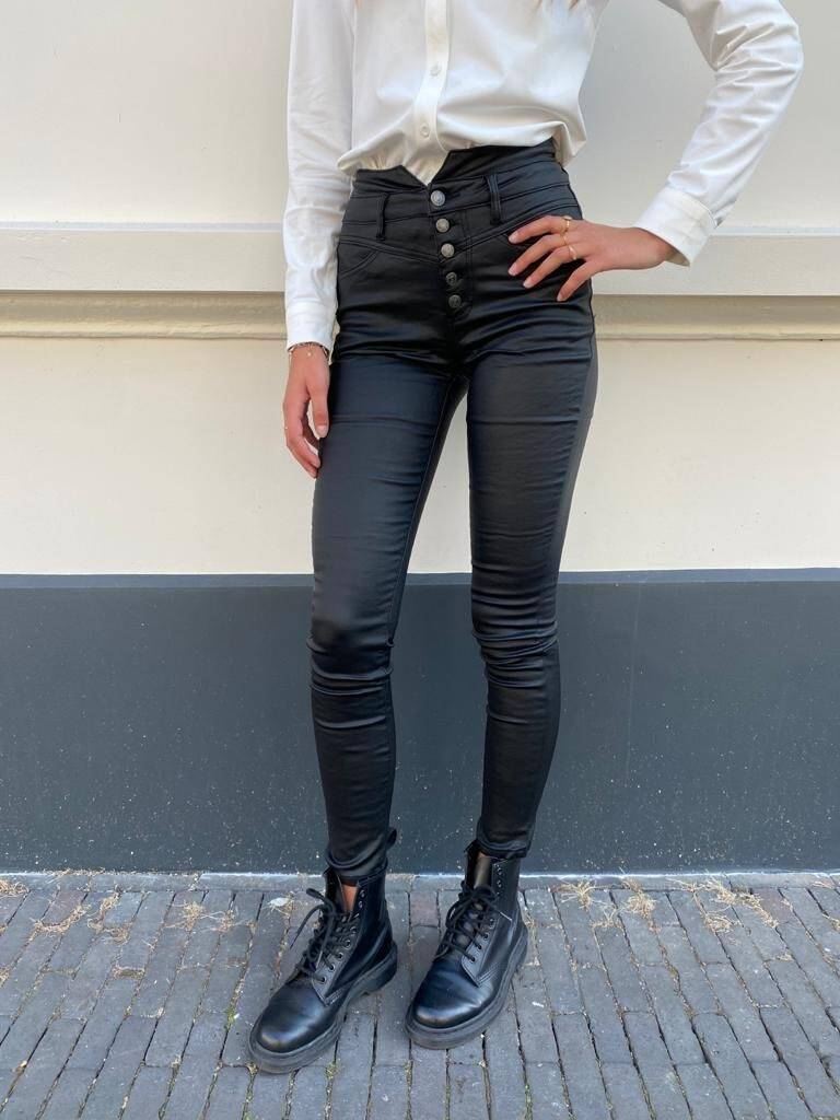 QUEEN HEART LEATHER PANTS WARM SKINNY 642