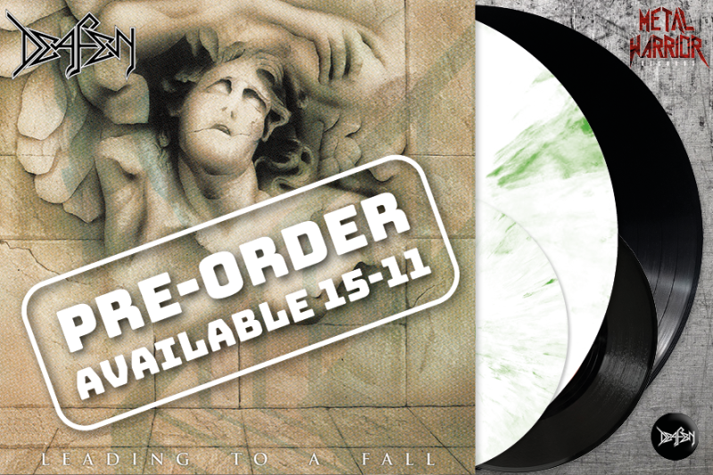 """DEAFEN - LEADING TO A FALL LP+7""""+BOOKLET (MARBLED WHITE/GREEN OR BLACK VINYL)"""