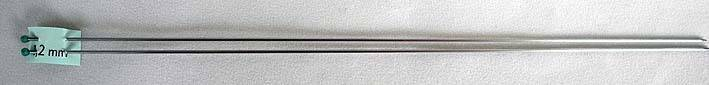 2 Breinaalden 1,2 mm 25 cm lang - 2 Knitting needles 1,2 mm 25 cm long