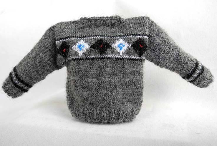Herentrui, grijs met ruiten - Mens grey jumper with diamonds