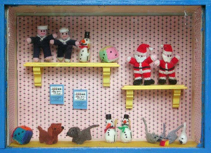 Gebreide poppen en knuffels in miniatuur-2 - Knitted dolls and cuddle toys in minatuur-2