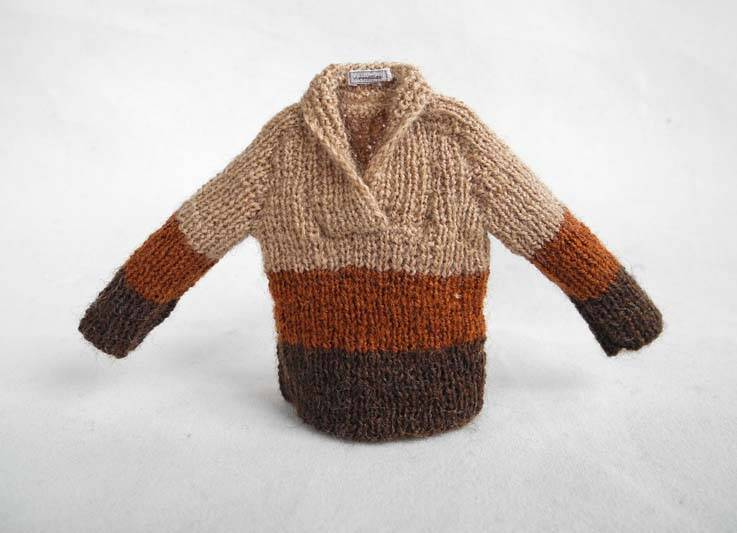 Herentrui in 3 kleuren bruin - Mens jumper in 3 shades of brown