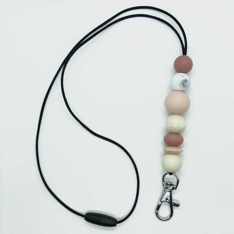 Keyring Necklace • Peach