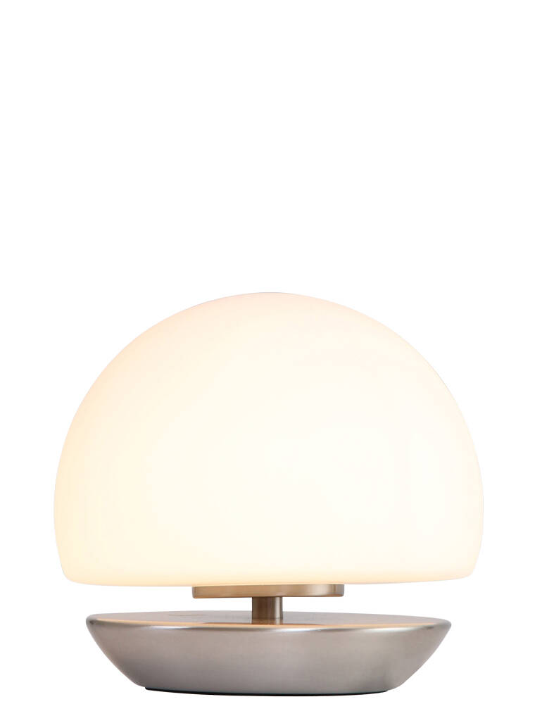 Bollamp staal/wit glas ST1017932