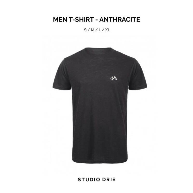Men T-Shirt Anthracite - Bike