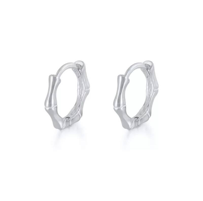 Bamboo hoops silver