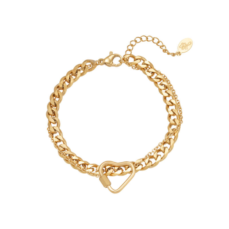 Armband Chained Heart goud