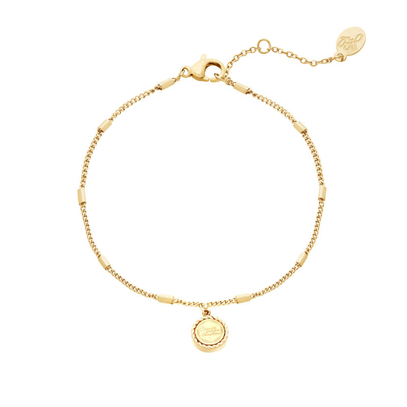 Armband Create your own sunshine goud