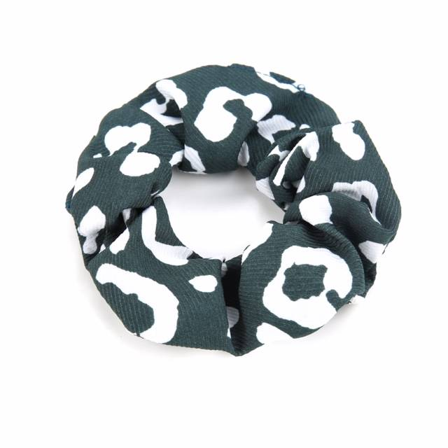 Scrunchie green leopard