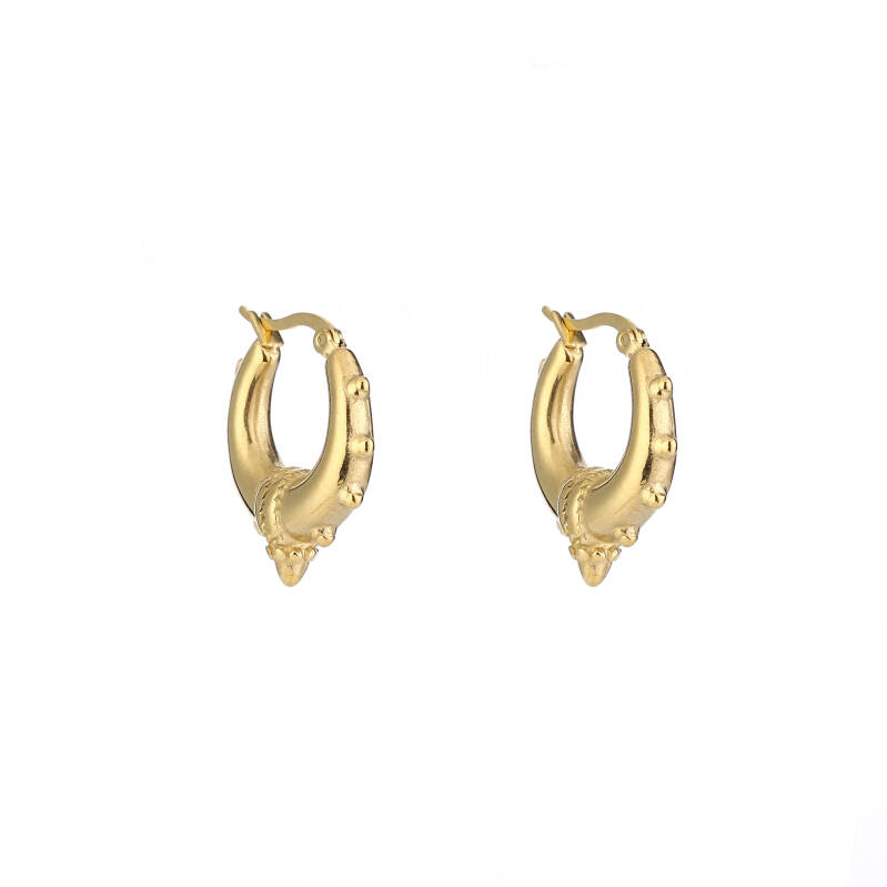 Oorbellen Bali Hoops Statement goud