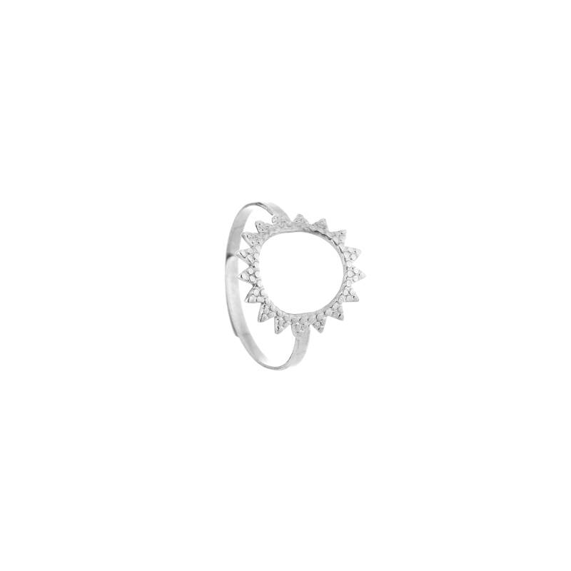 Ring Sunny Circle zilver