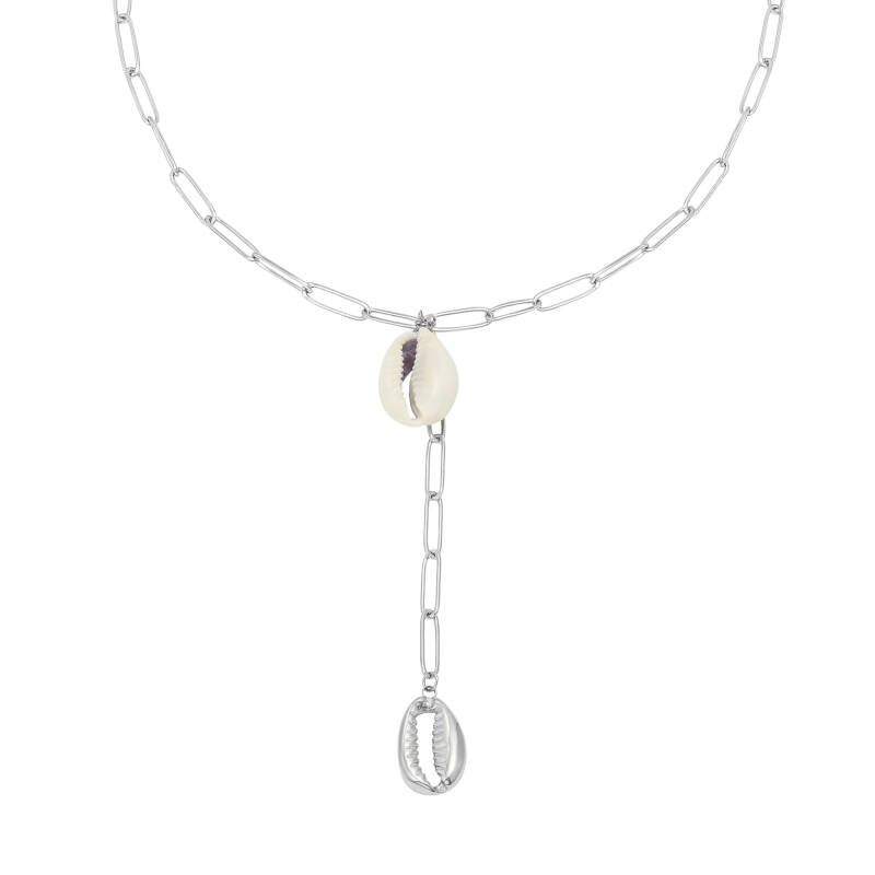 Ketting Chained Shells zilver