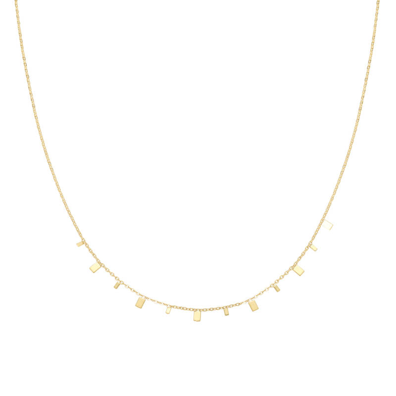 Ketting Rectangle Confetti goud
