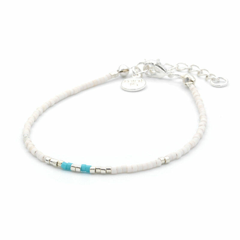 Armband Delicate - Touch of Turquoise - zilver