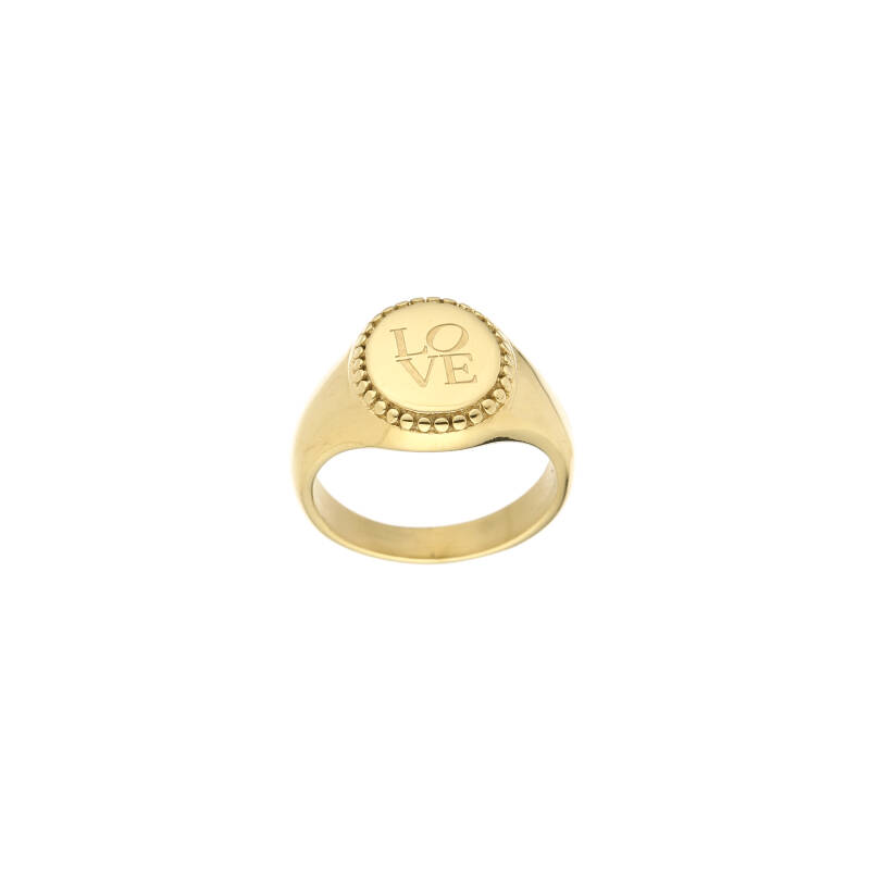 Ring Love goud