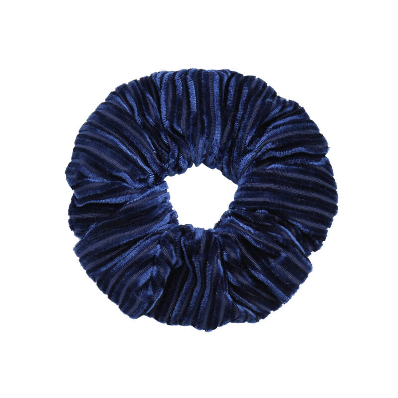 Scrunchie Crushed Velvet donkerblauw