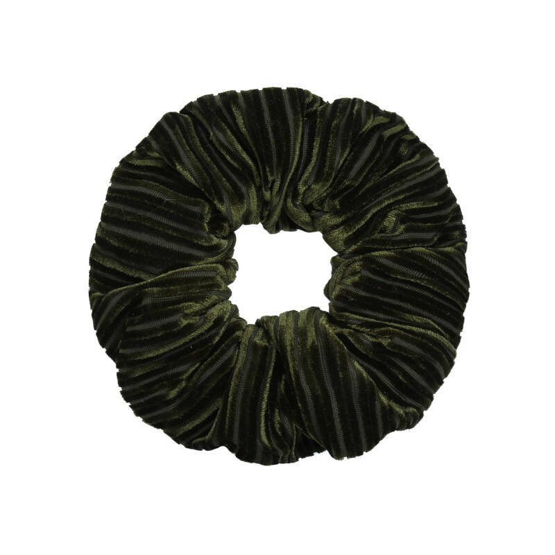 Scrunchie Crushed Velvet olijfgroen