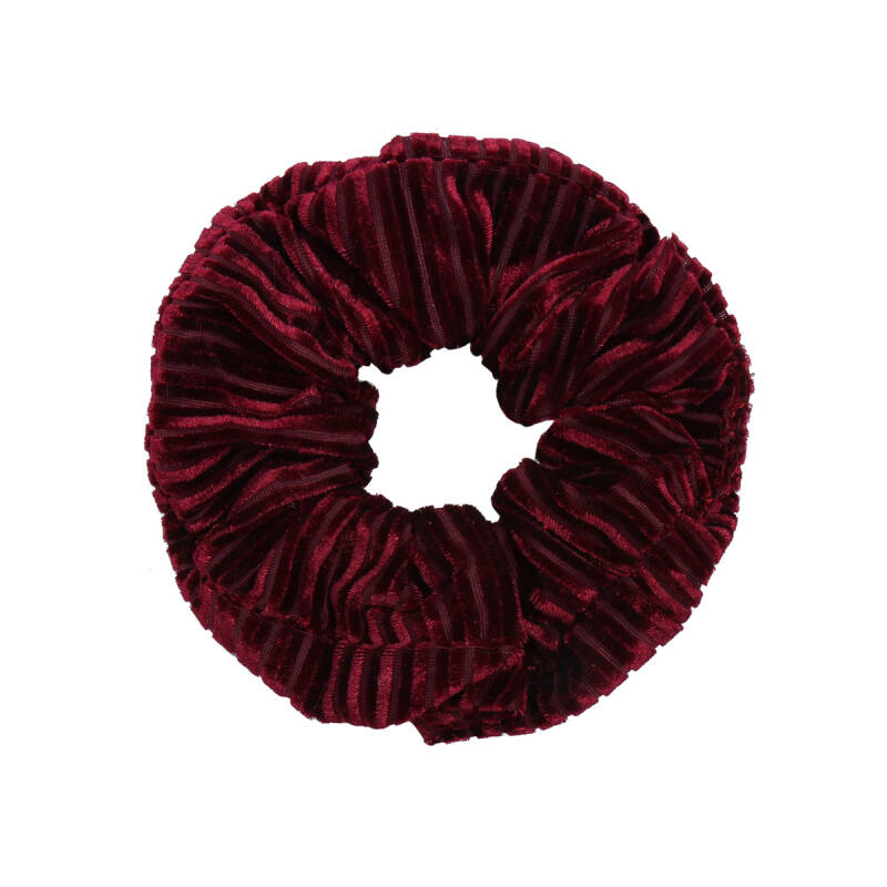 Scrunchie Crushed Velvet wijnrood