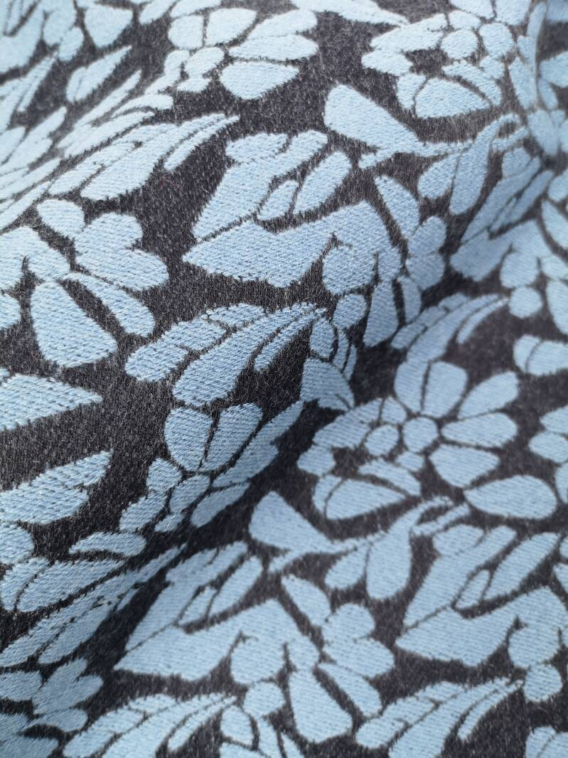 Floral Fabric In Blue