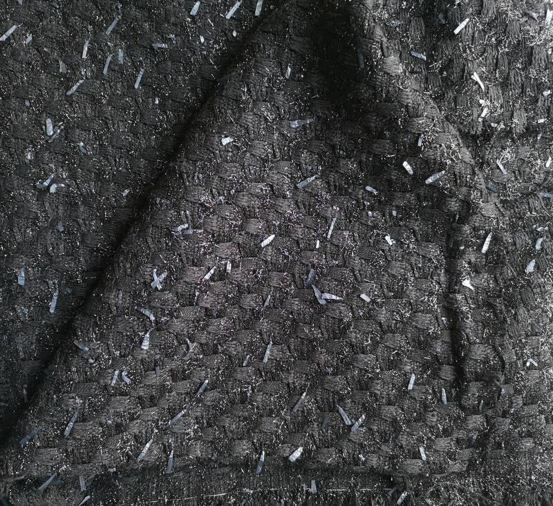 Black Shiny Couture Fabric