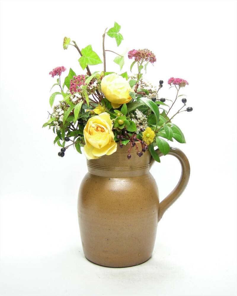 Vintage pitcher Gres Fait Main made in France bruin ♥ 1277