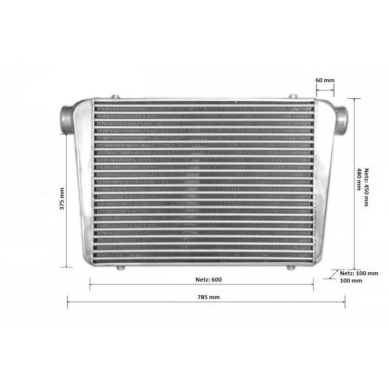 BOOST products Intercooler 600x450x100mm - 76mm - Competition 2015