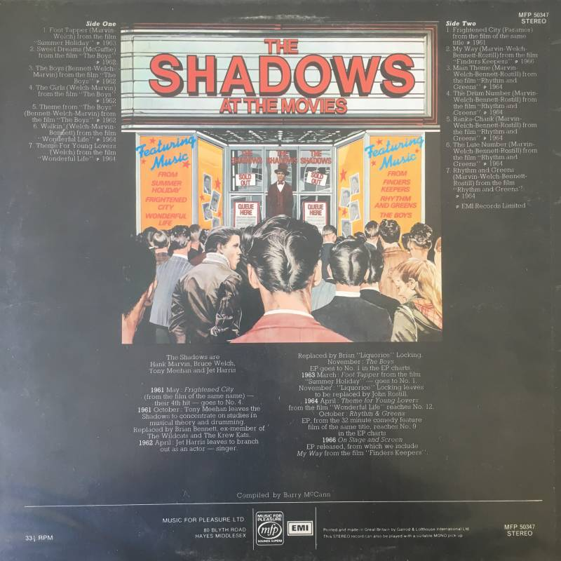 The Shadows - The Shadows At The Movies