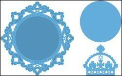 Creatables stencil Petra`s circle and crown - LR0317