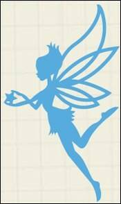 Creatables stencil fairy star - LR0323