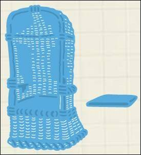 Creatables stencil beach chair - LR0364