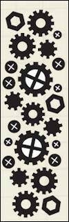Craftables stencil Punch die - nuts & bolts - CR1324