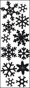 Craftables stencil punch die snowflakes - CR1335