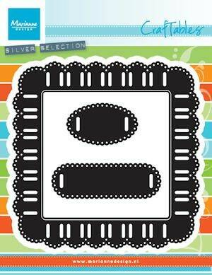 Craftables stencil ribbon square - CR1369