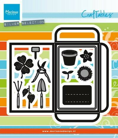Craftables stencil seed pocket & garden tools - CR1395