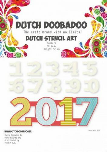 Dutch Stencil Art Numbers 0 - 9 - 470.990.040
