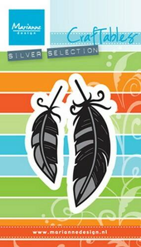Craftables stencil feathers - CR1412