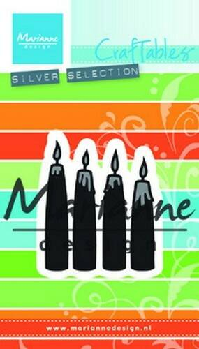 Craftables stencil advent candles - CR1425