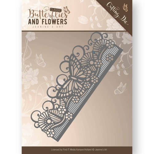 Jeanine's Art - Butterflies and Flowers - Butterfly Border  JAD10021