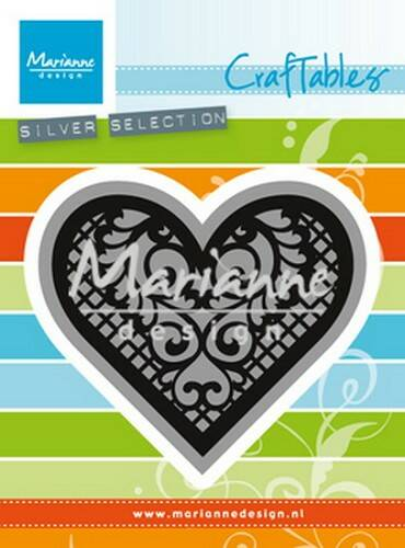 Craftables stencil lace heart - CR1428