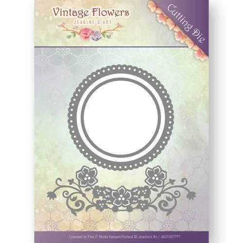 Jeanine's Art - Vintage Flowers - Flowers and Circles  JAD10034